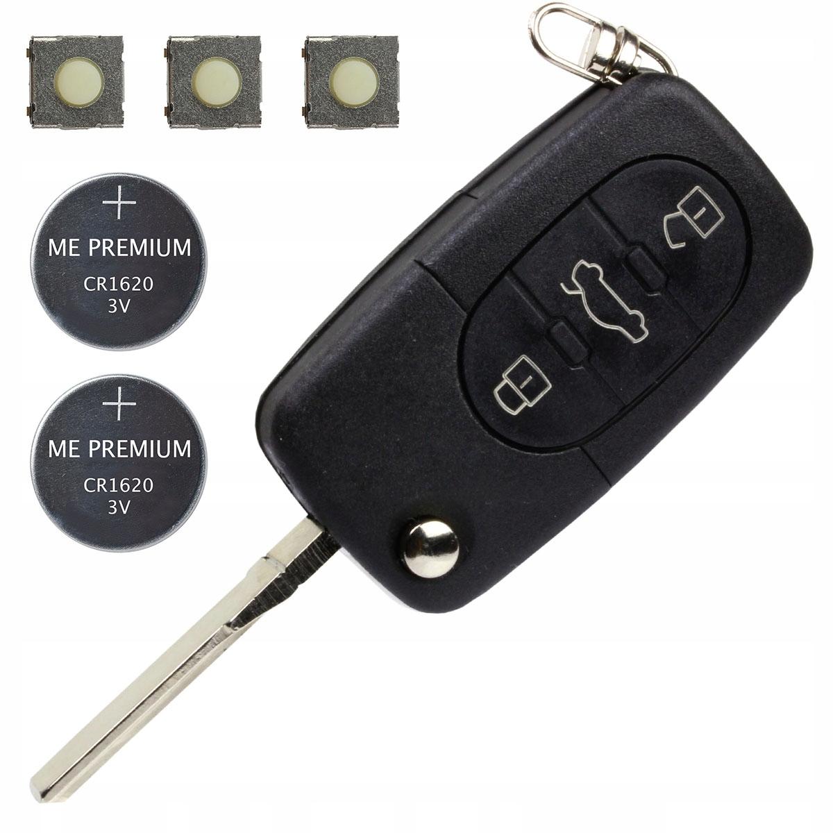 корпус ключа пульт vw audi аккумулятор кнопки