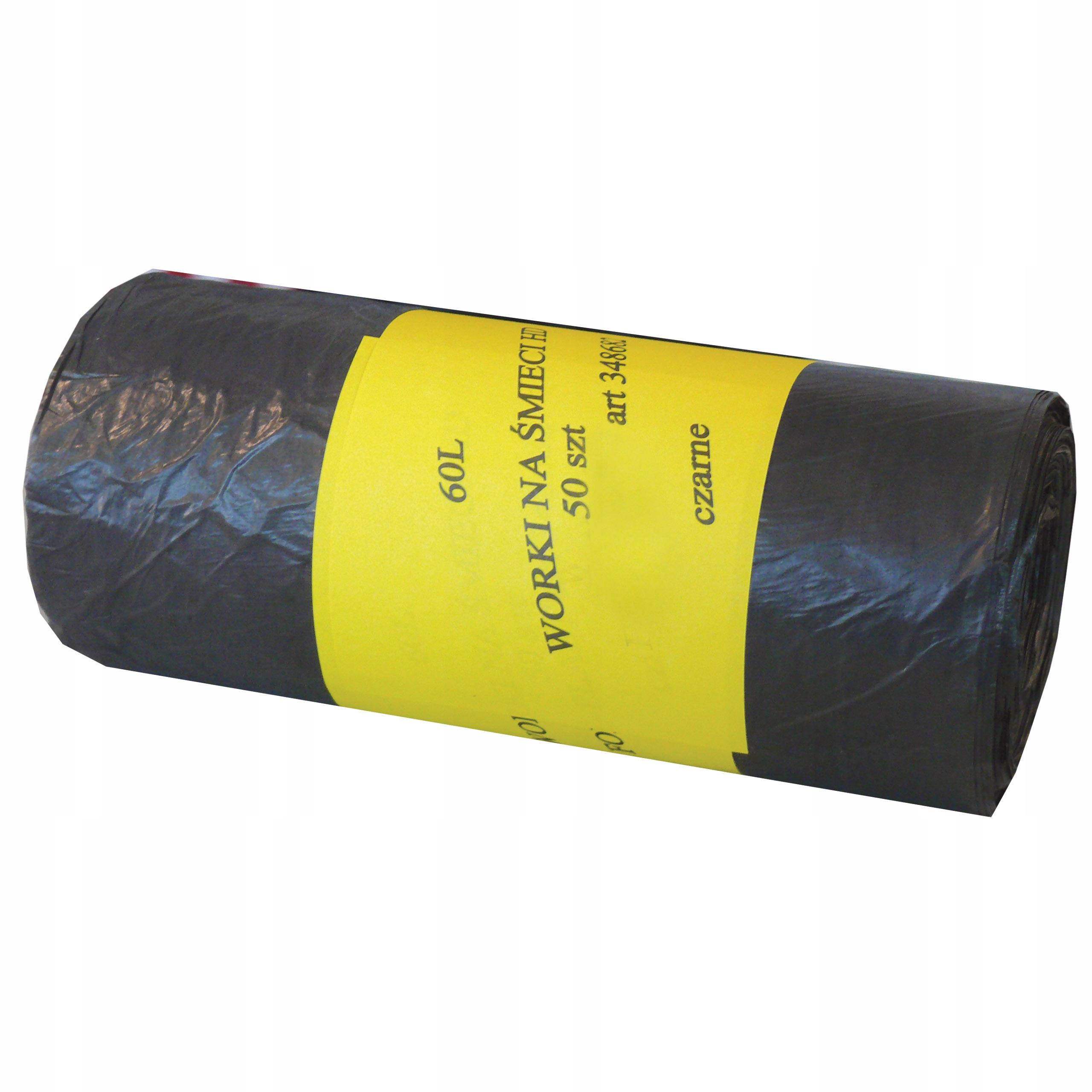мешки для мусора HDPE 60Л 60x74 см, А'50 1rolka