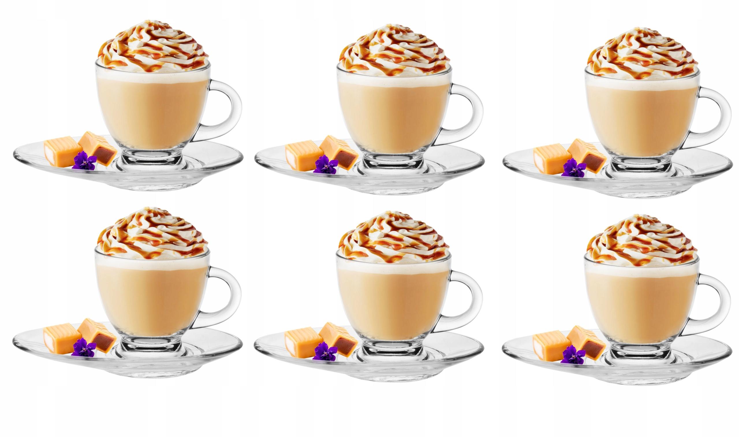 Кофейные чашки, чай 6шт 230мл + блюдца