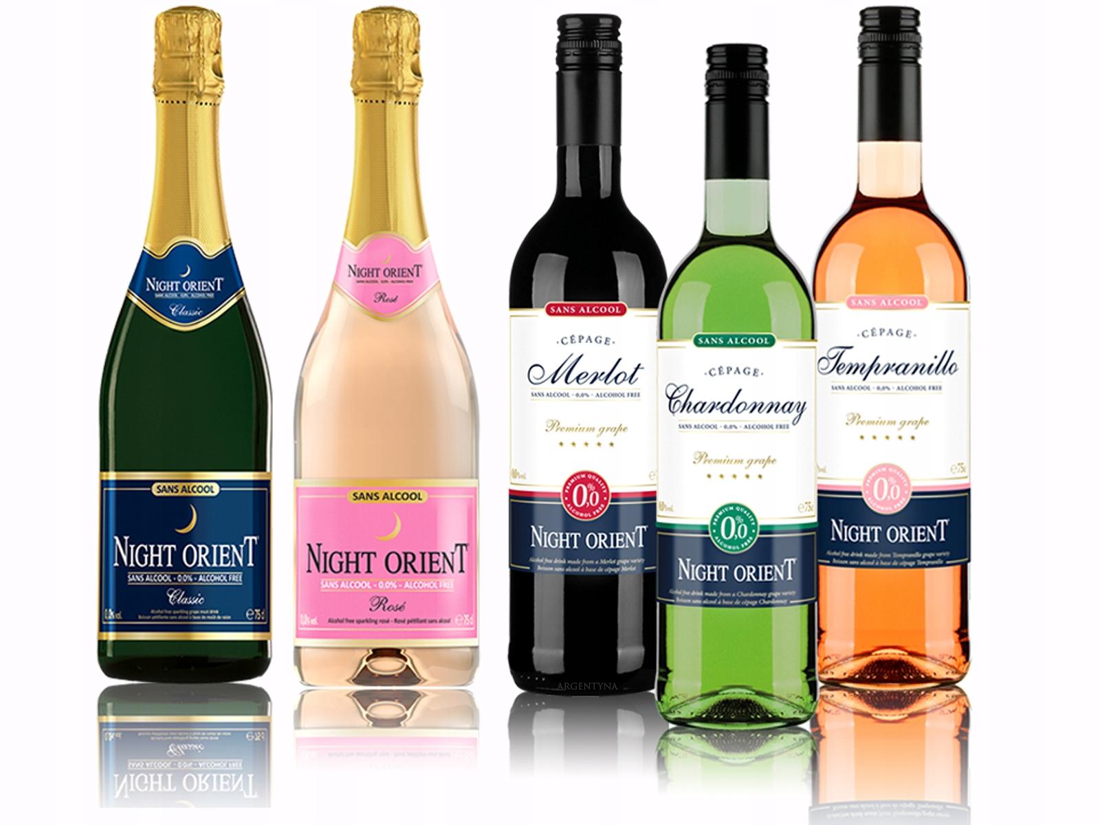 вино Безалкогольные напитки 5x Night Ориент Ноль ,Ноль % - комплект