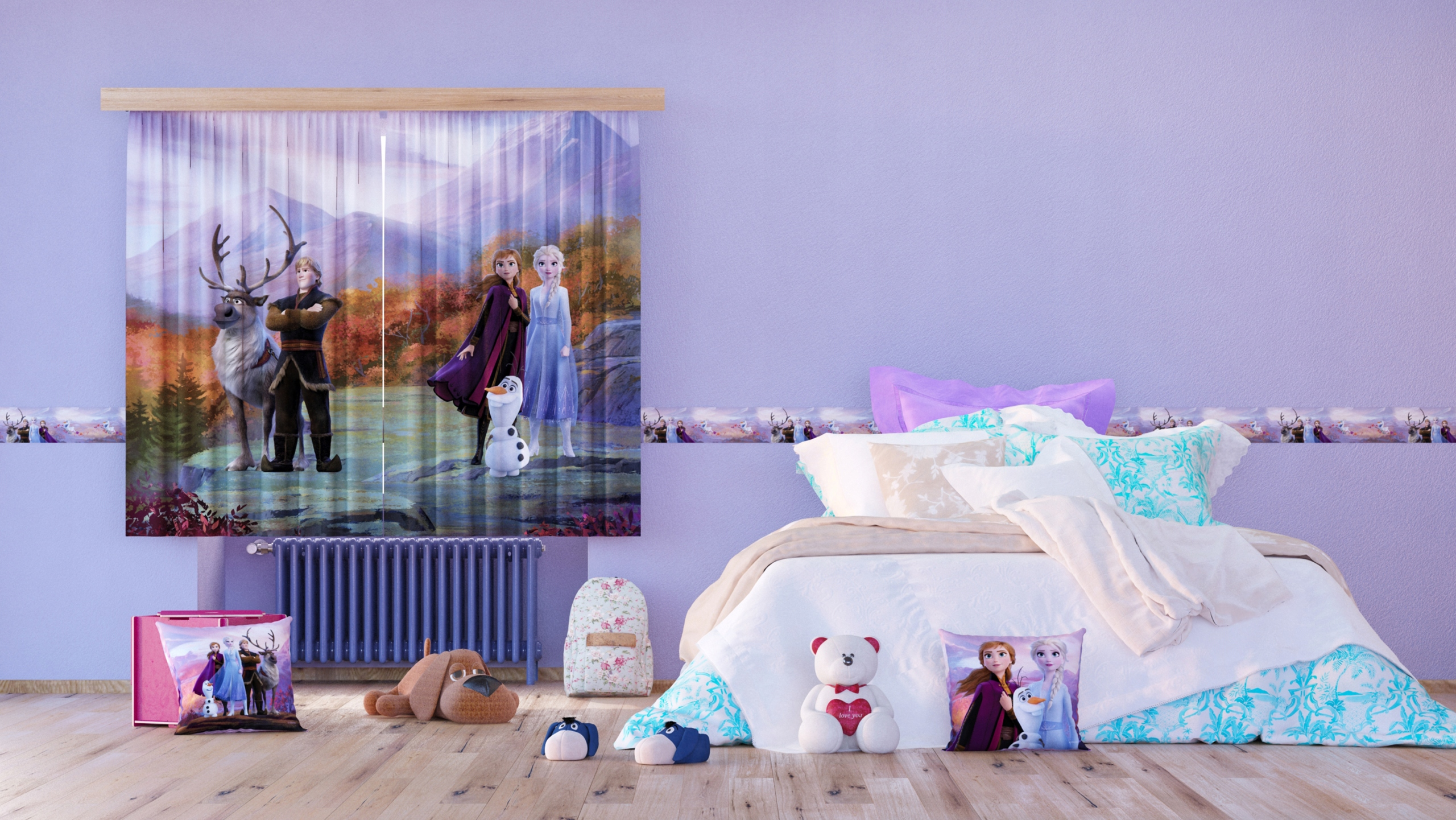 Záves Disney Frozen 2, dizajn 180 x 260 -AG