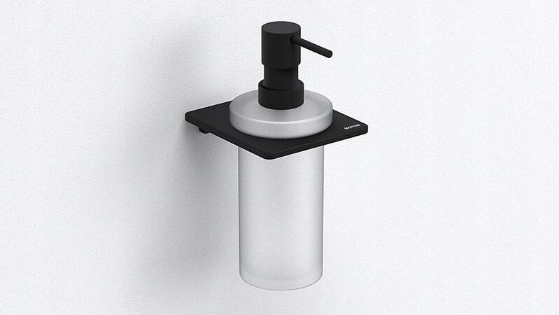 ŁÓDŹ čierny dávkovač tekutého mydla SONIA S-Cube