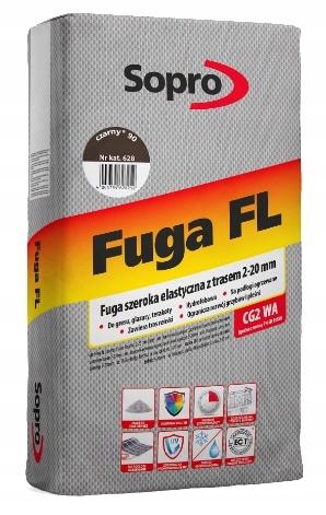 SOPRO FLO-FLEXIBLE, ŠIROKOU FUGUE, ČIERNE, 25 kg