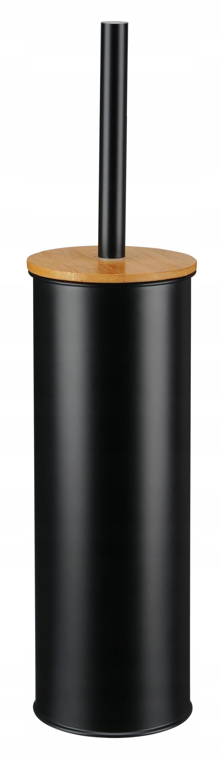 Nowoczesna szczotka do WC bambus czarna
