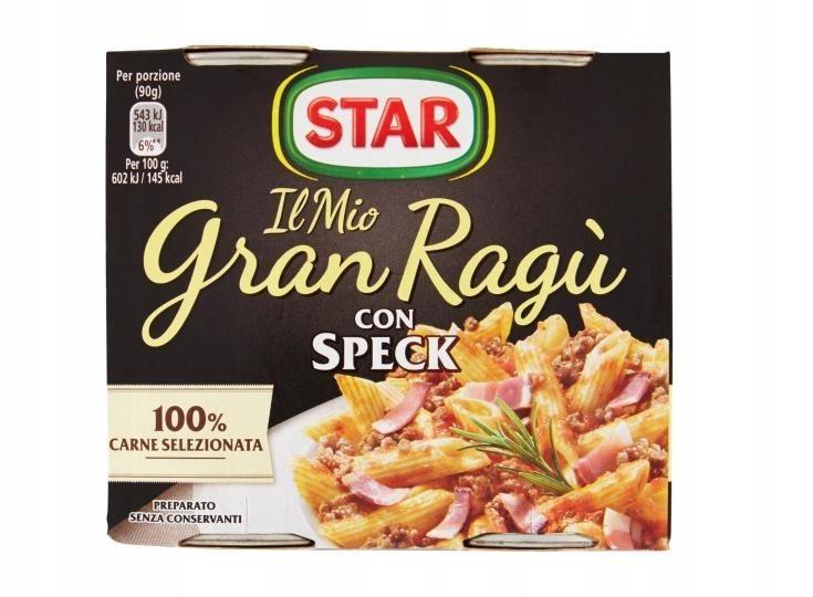 Star Gran Рагу кон спек соус для спагетти 2 x 180 г