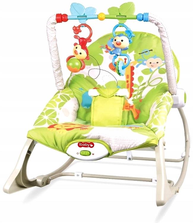 Кресло-качалка 3-в-1 с вибрирующим сиденьем 0-18 кг