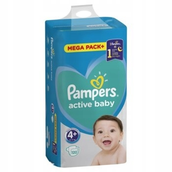 PAMPERS ACTIVE BABY 4+ MEGA PACK 120 SZTUK