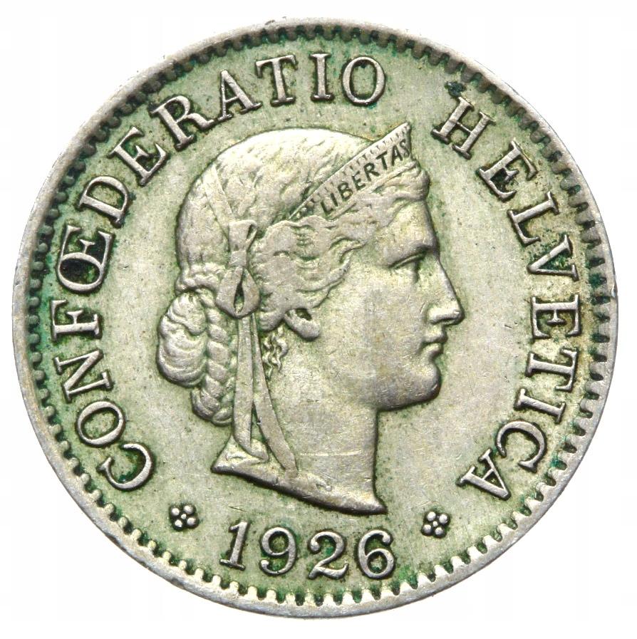 + Švajčiarsko - 5 Rappen 1926 B