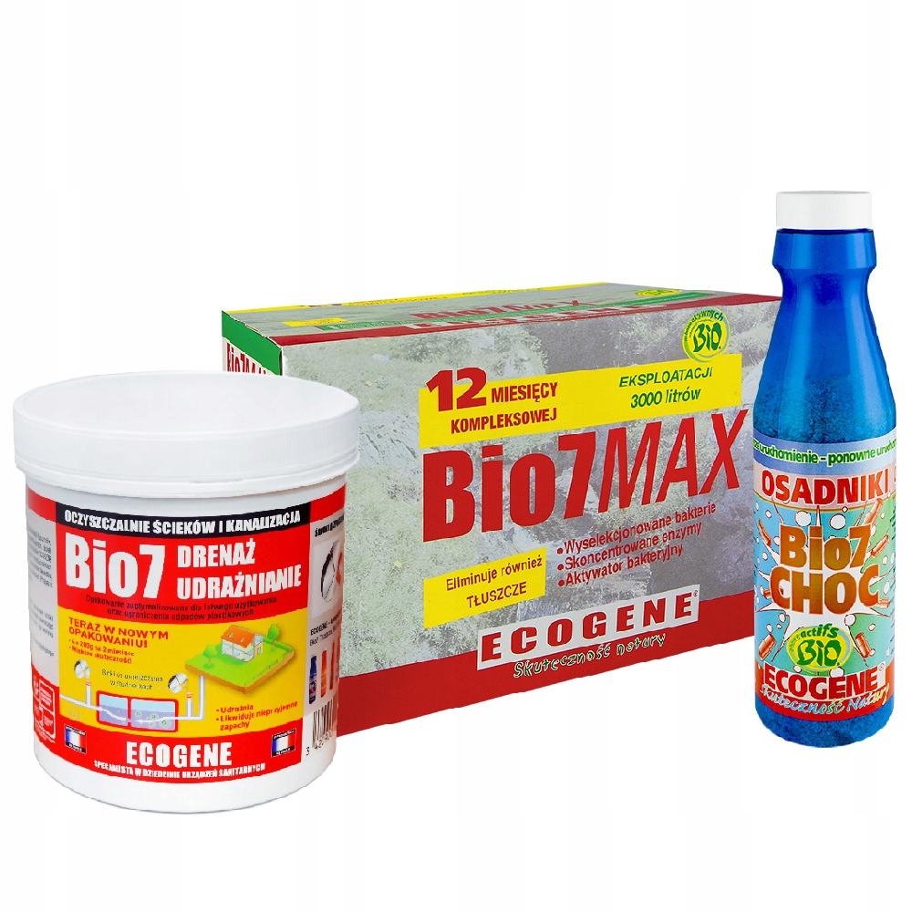 Bio 7 MAX +, HOCI + ODVODNENIE pre čistiarní odpadových vôd BAKTÉRIE