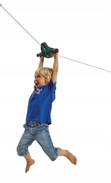 Zipline lanová šmýkačka na ihrisko DOKONČENÉ Maximálne zaťaženie 80 kg