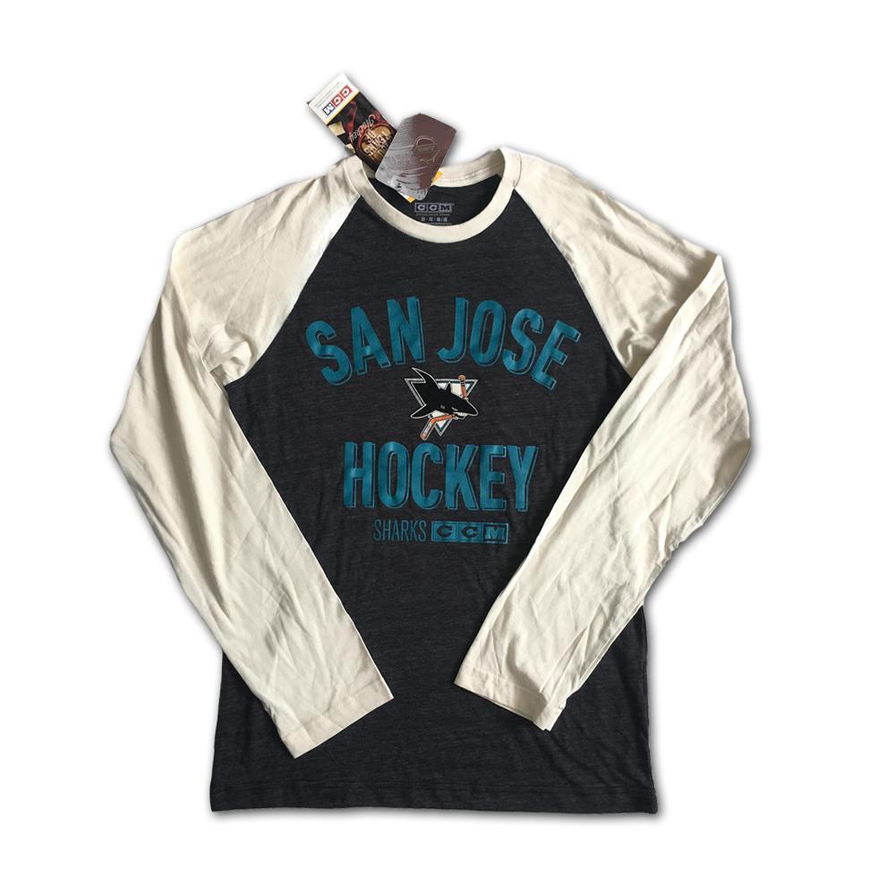 Tričko San Jose Sharks Vintage Retro CCM NHL 2XL