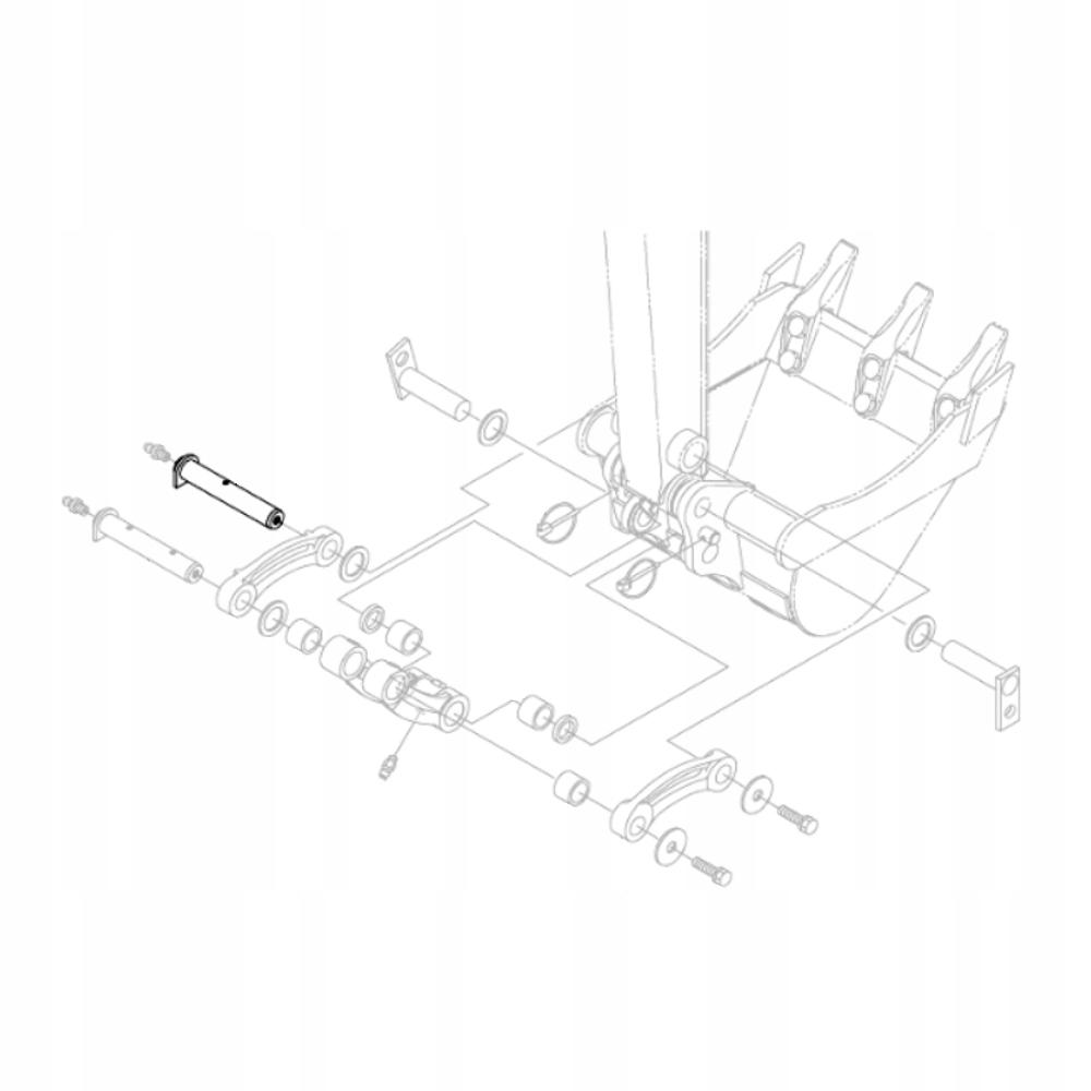 KUBOTA RG158-66752 Палец ковша экскаватора KX018