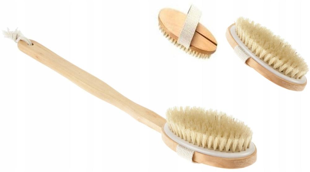 Щетка для мытья спины с натуральной щетиной