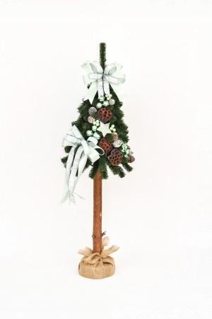 Zdobený umelý vianočný stromček na kufri s Lunou 110 cm