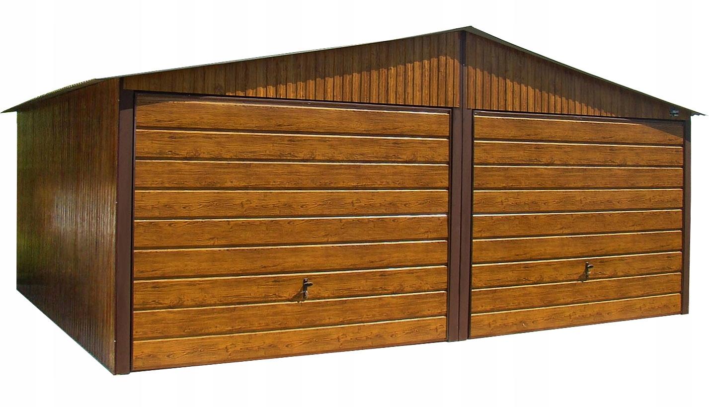 Гаражи из листового металла, 6x5   Дуб Двускатной гараж