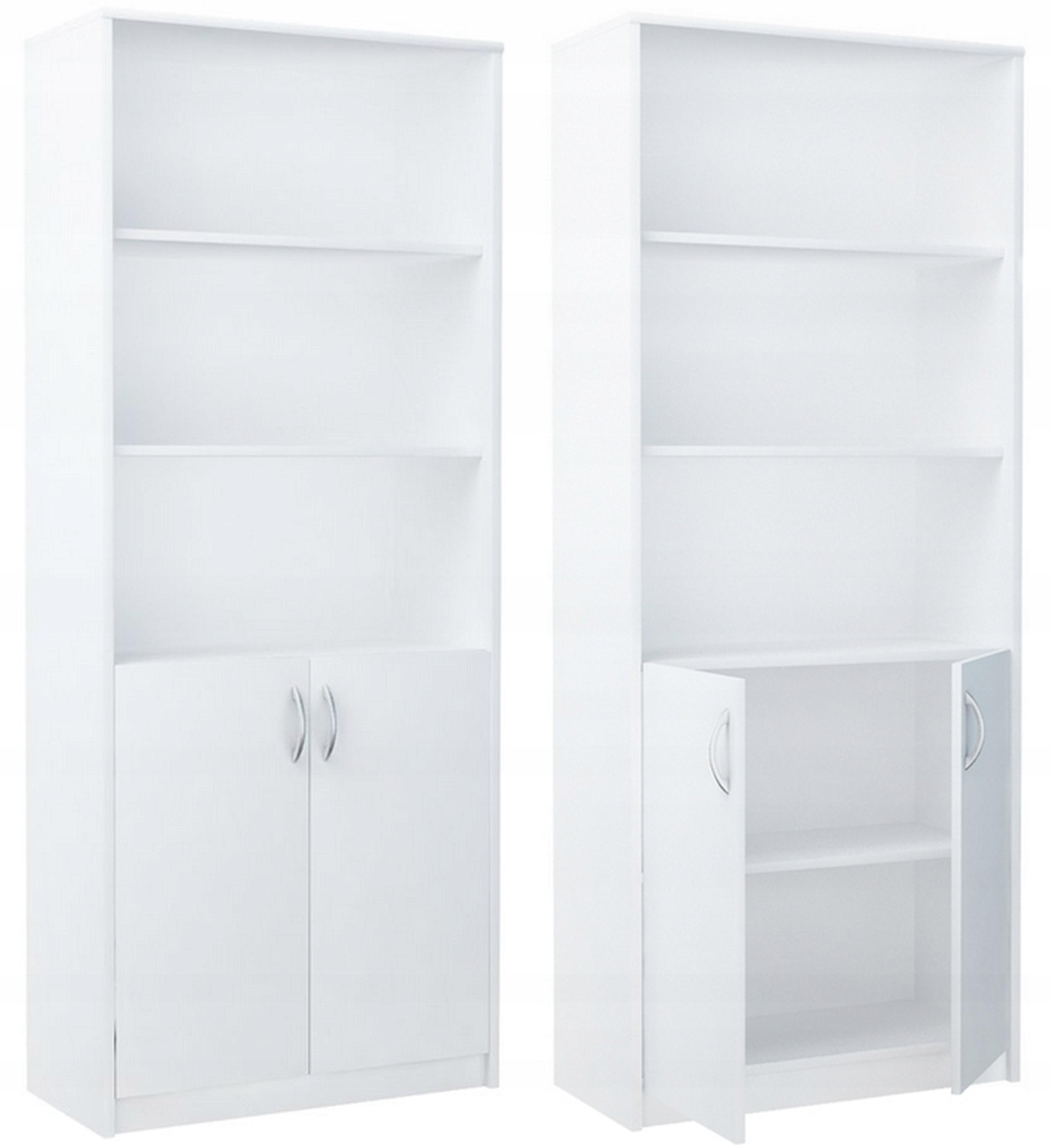 Стеллаж офисный шкаф шкаф для книг R7 Белый