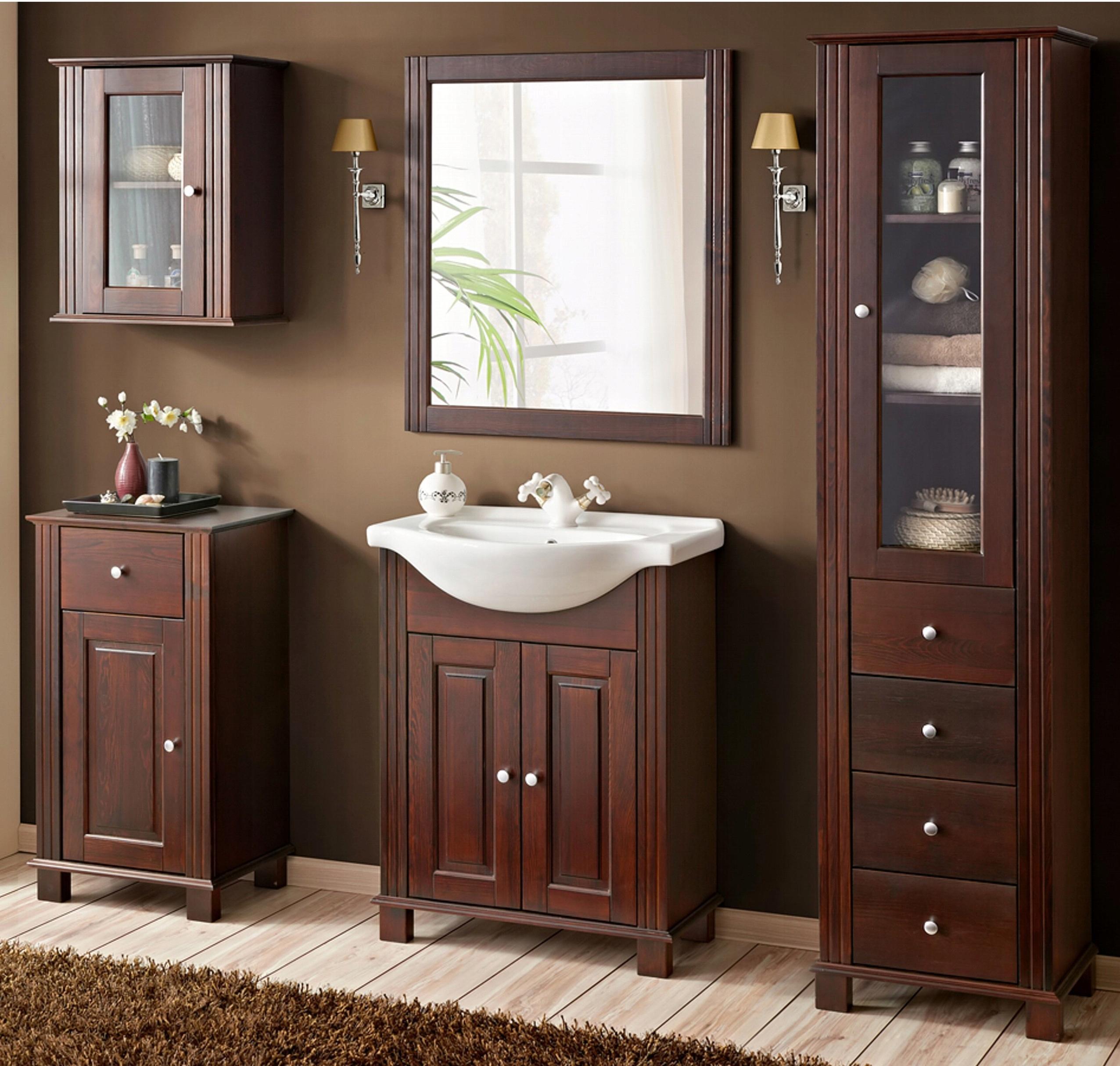 kúpeľňa RETRO-65 kúpeľňový nábytok, drevo, bronz