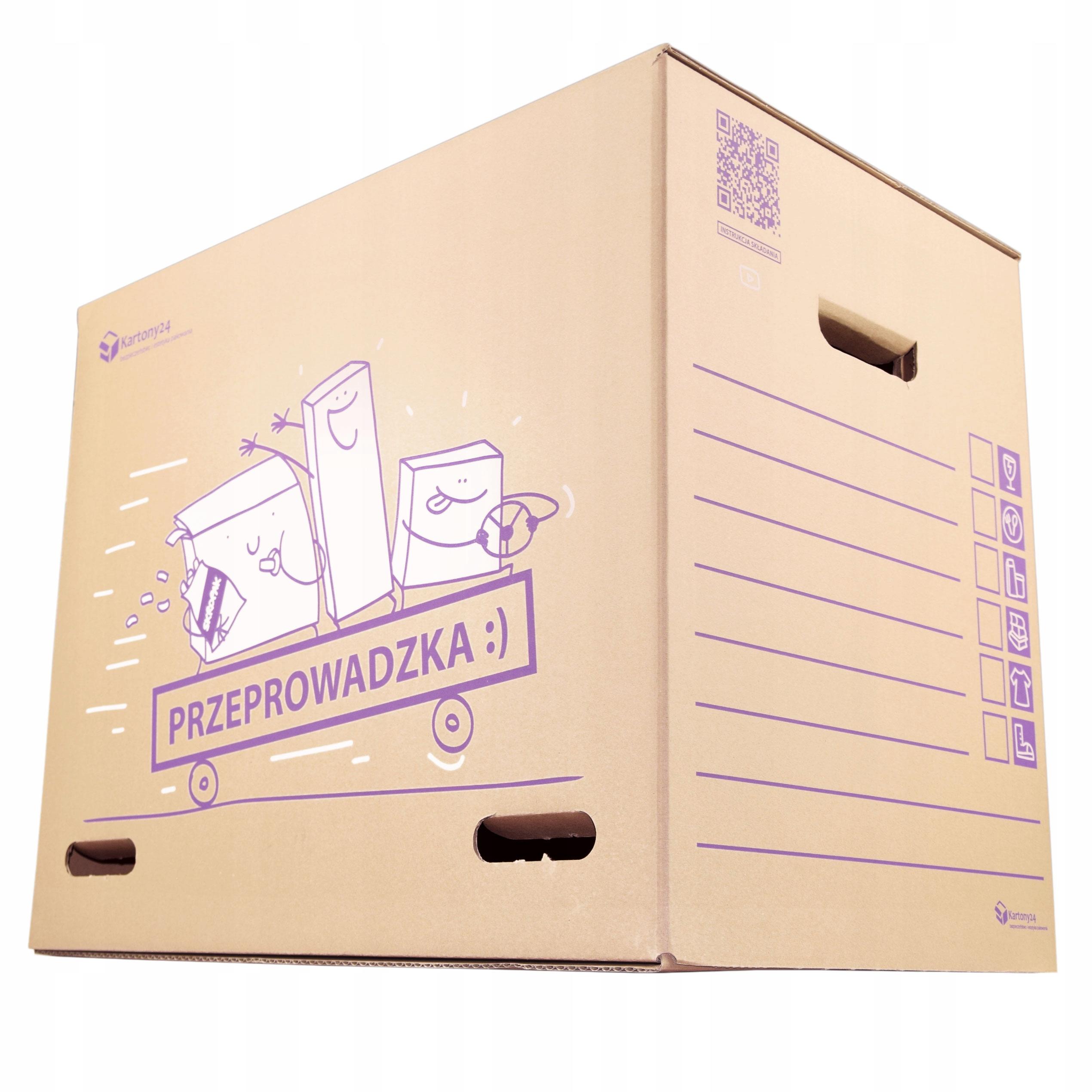 Duży i mocny karton do przeprowadzki pudełko 120L