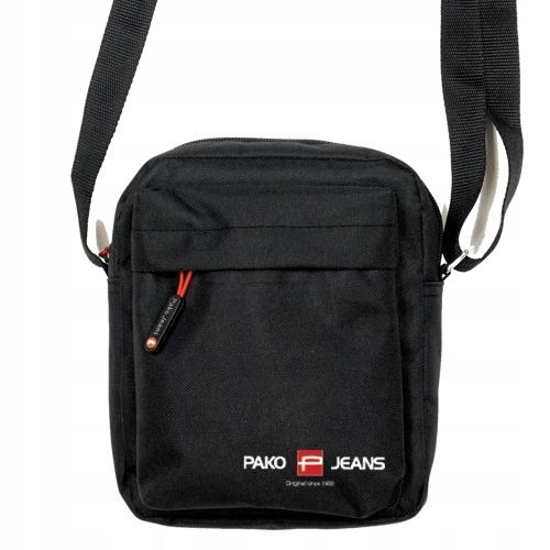 Mała torba listonoszka na ramię czarna Pako Jeans