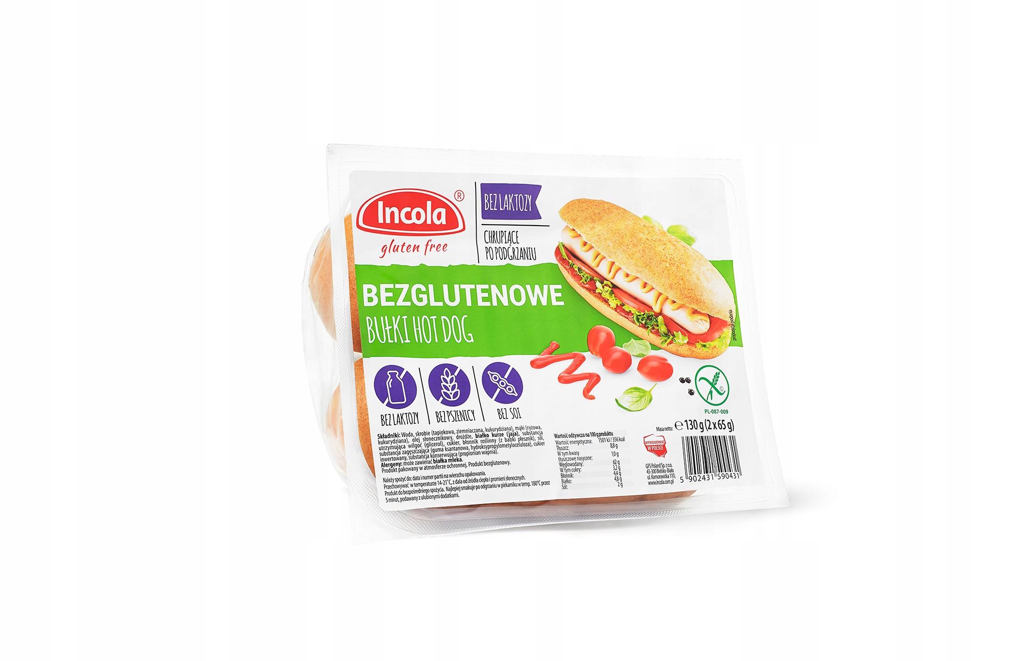 INCOLA bułka hot dog bezglutenowa