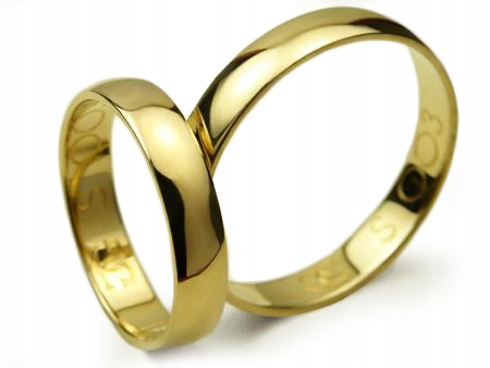 Item GOLDRUN GOLD WEDDING RING 4 MM 333 PAIR
