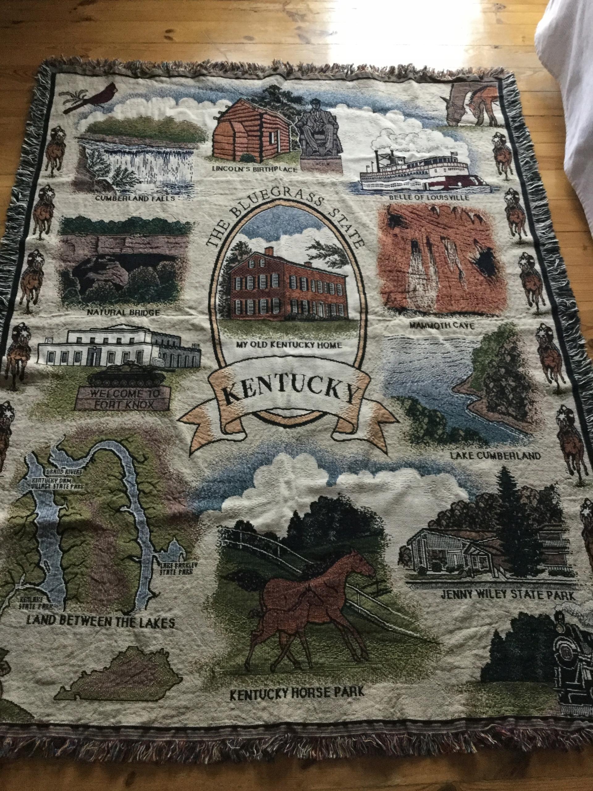 ковер гобелен скатерть покрывало - с бахромой Кентукки