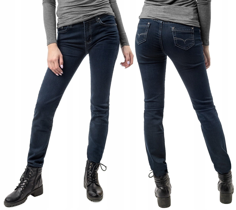 Klasyczne Proste Spodnie Jeansy Damskie 9123 78 cm