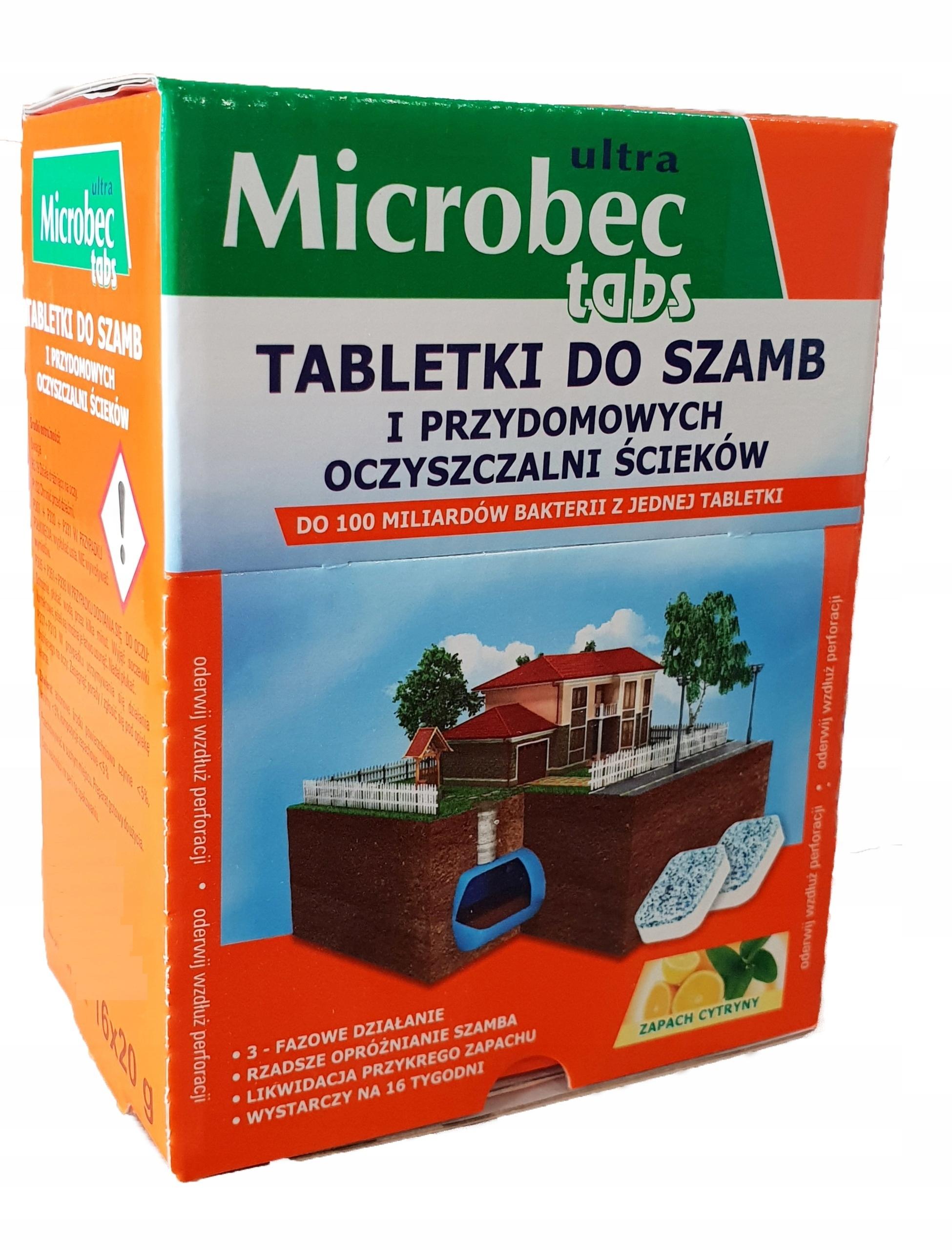 MICROBEC ТАБЛЕТКИ ДЛЯ СЕПТИКОВ ОЧИСТНЫХ СООРУЖЕНИЙ 16 ШТУК
