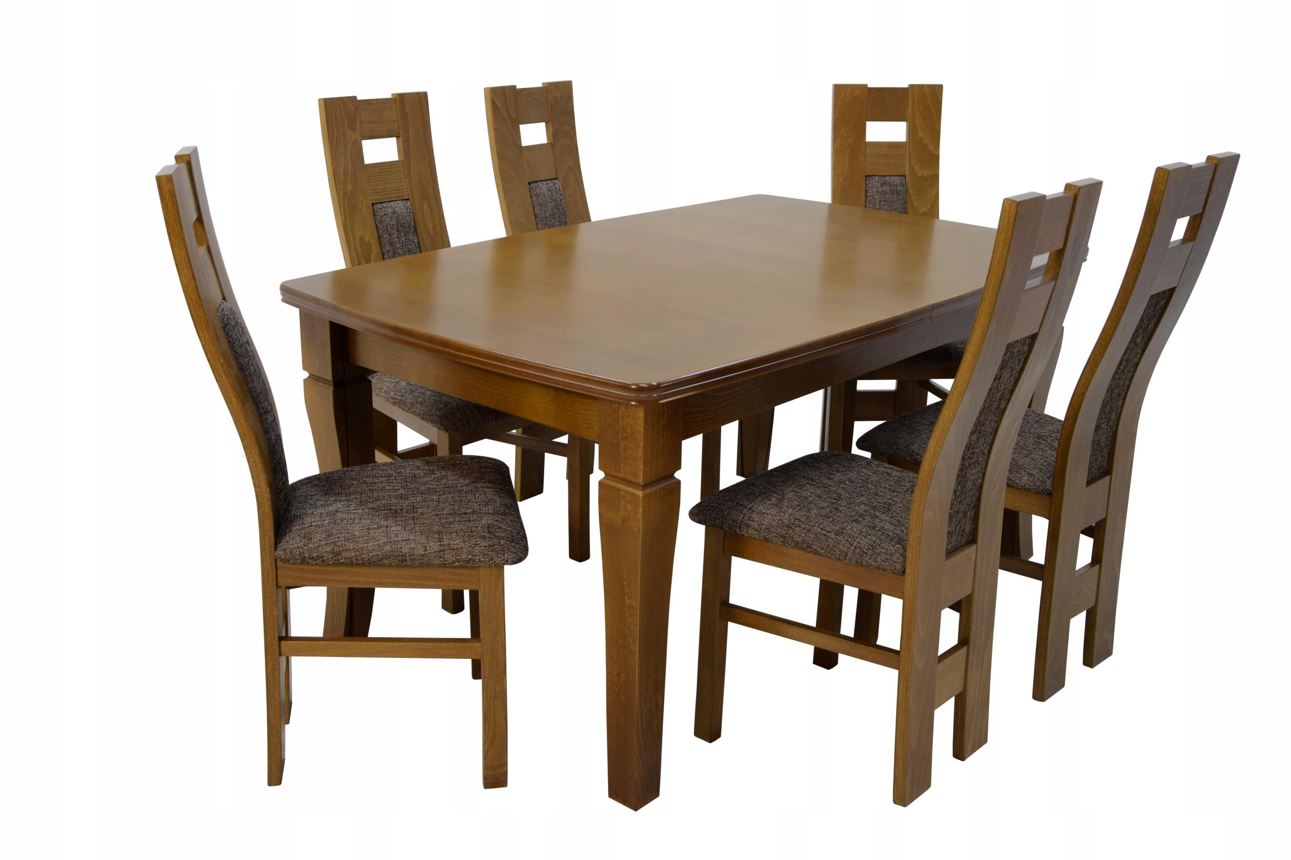 6 stoličkami a rozšírenie stola s 4 Dvojité nohy