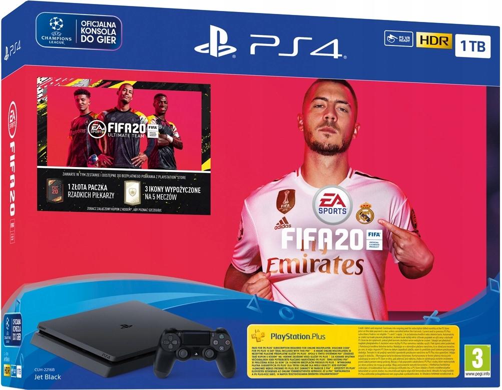 PS4 SLIM 1 ТБ + КОНСОЛЬ FIFA 20 В ПОЛЬШЕ НОВЫЙ