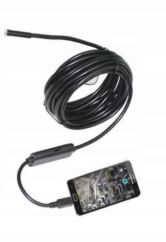 5,5 mm vodotesná endoskopická inšpekčná kamera
