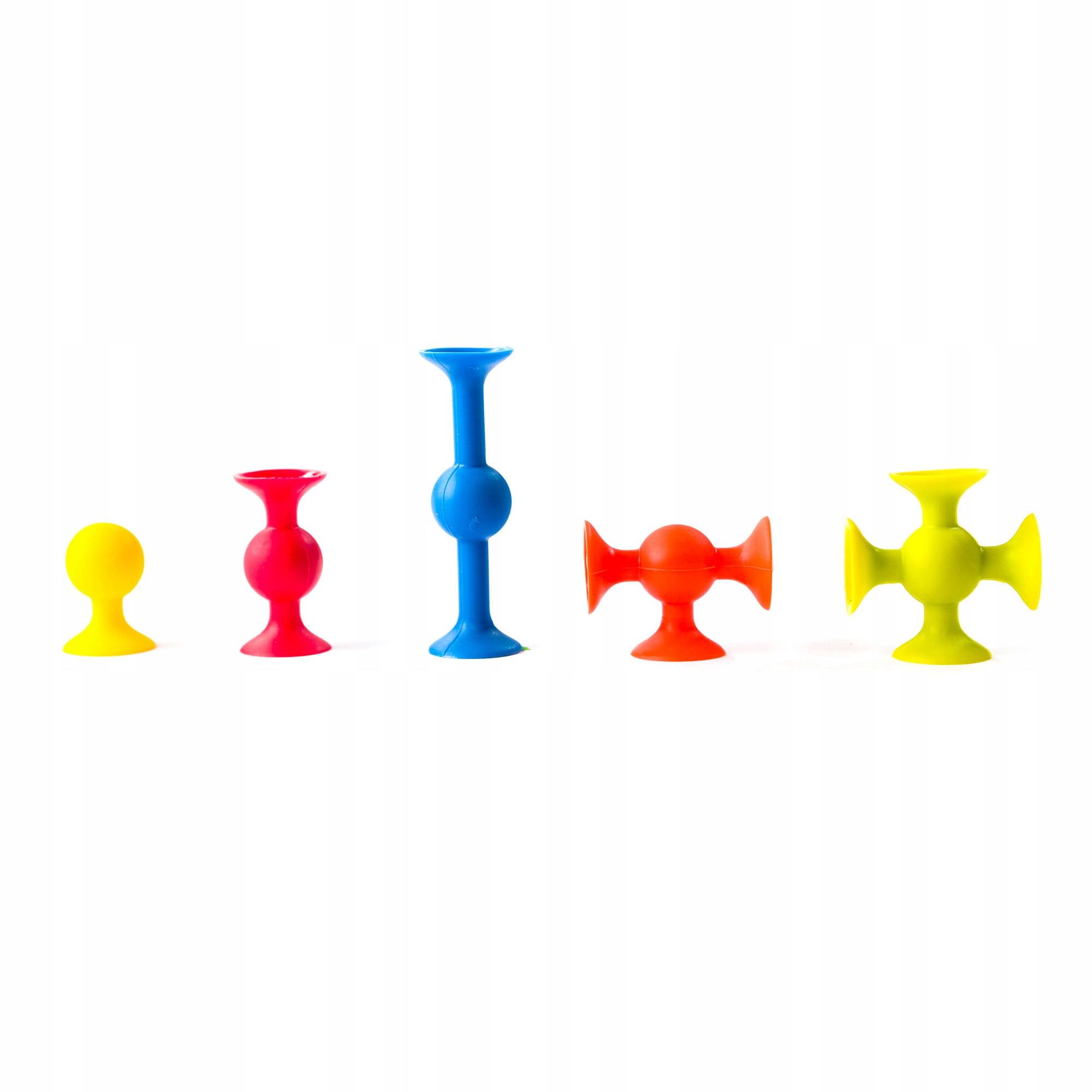 Fat Brain Toys Mini Squigz Przyssawki 75El, FA107 Płeć Chłopcy Dziewczynki