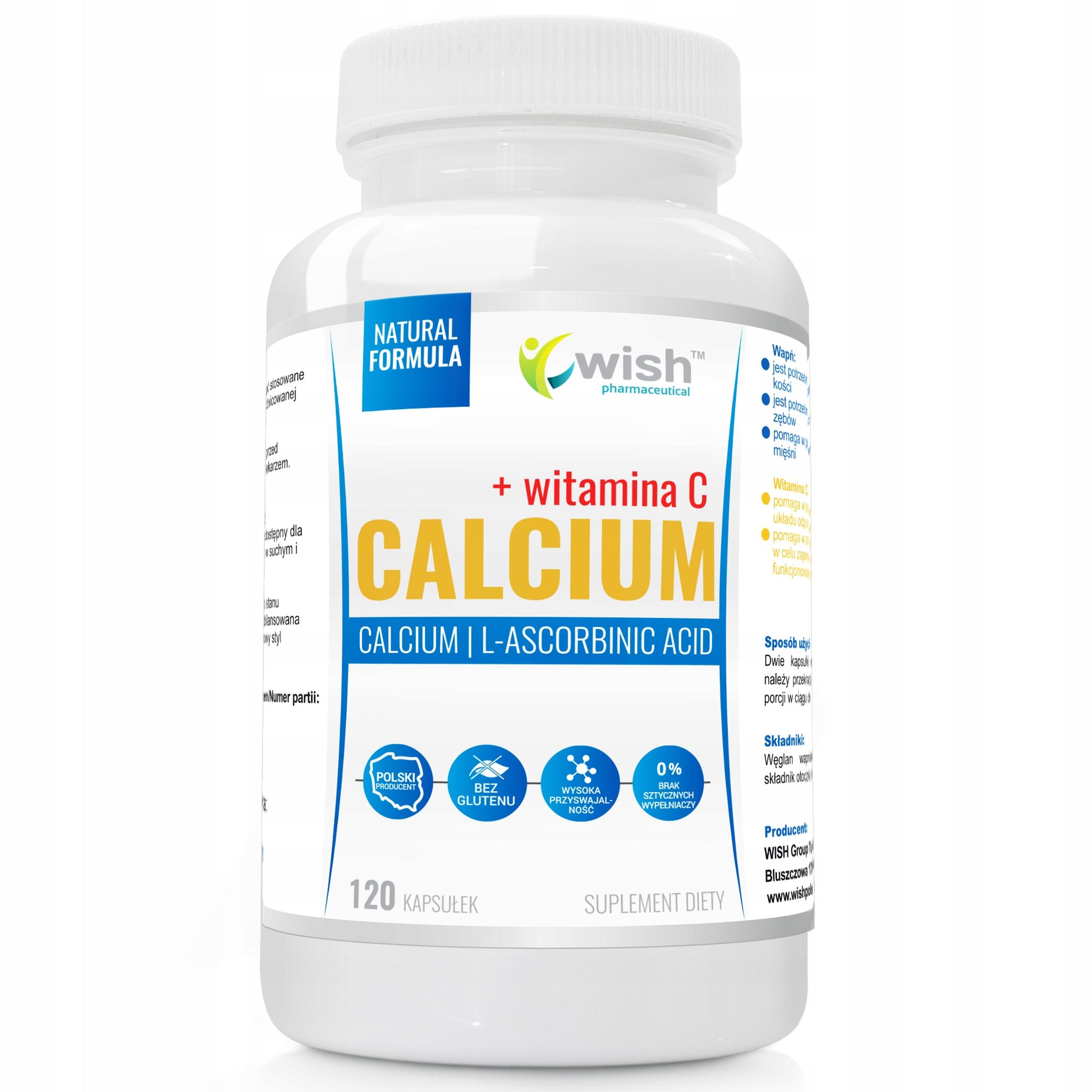 Calcium 800MG Вит C-ИГЛА!!! 200мг кальций КРЕПКИЕ KOSCI 120kaps