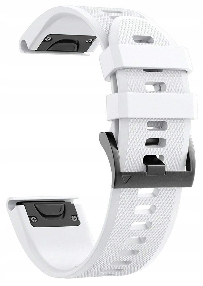 Купить Белый  силиконовый ПОЯС GARMIN FENIX 5S QUICKFIT на Eurozakup - цены и фото - доставка из Польши и стран Европы в Украину.