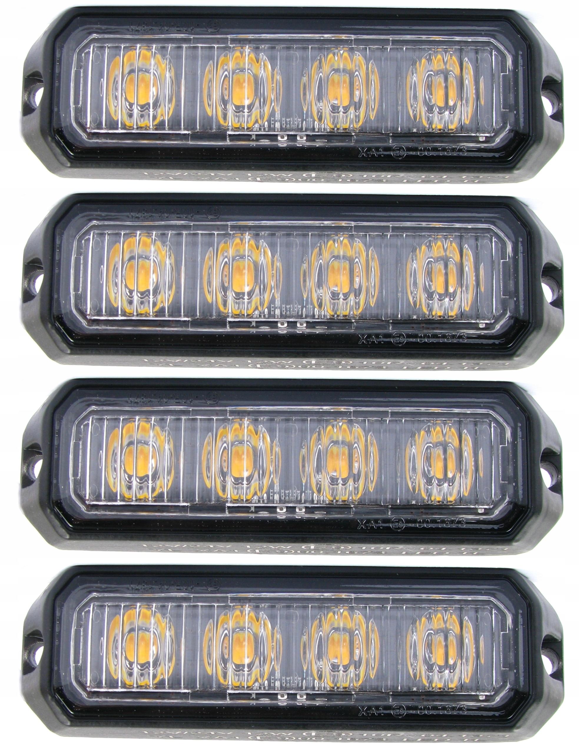 лампа 4 led предупреждения x4 стробоскоп помощь эвакуаторов