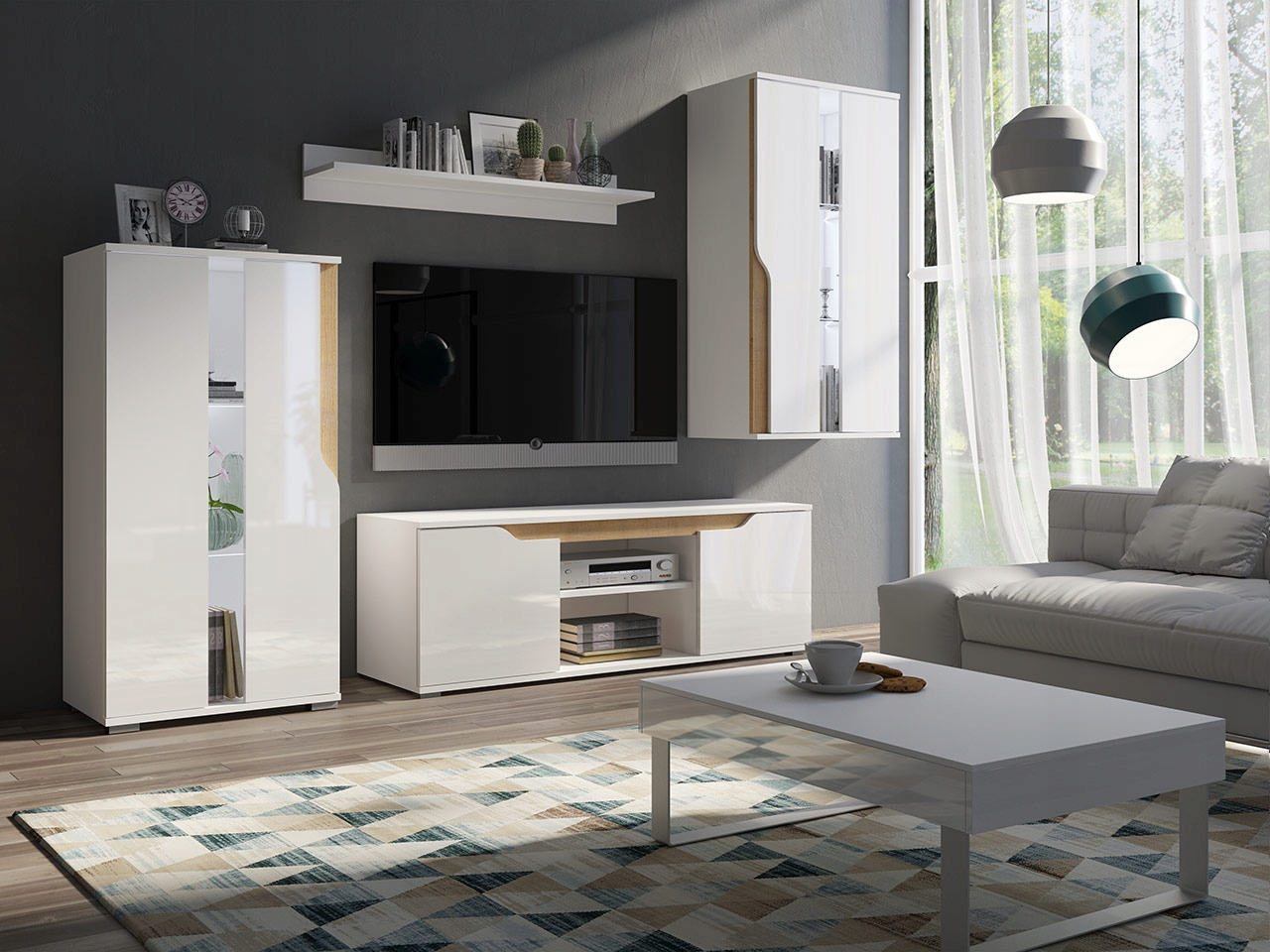 Купить набор мебели для САЛОН Мебель LANCO meblościanka на Eurozakup - цены и фото - доставка из Польши и стран Европы в Украину.