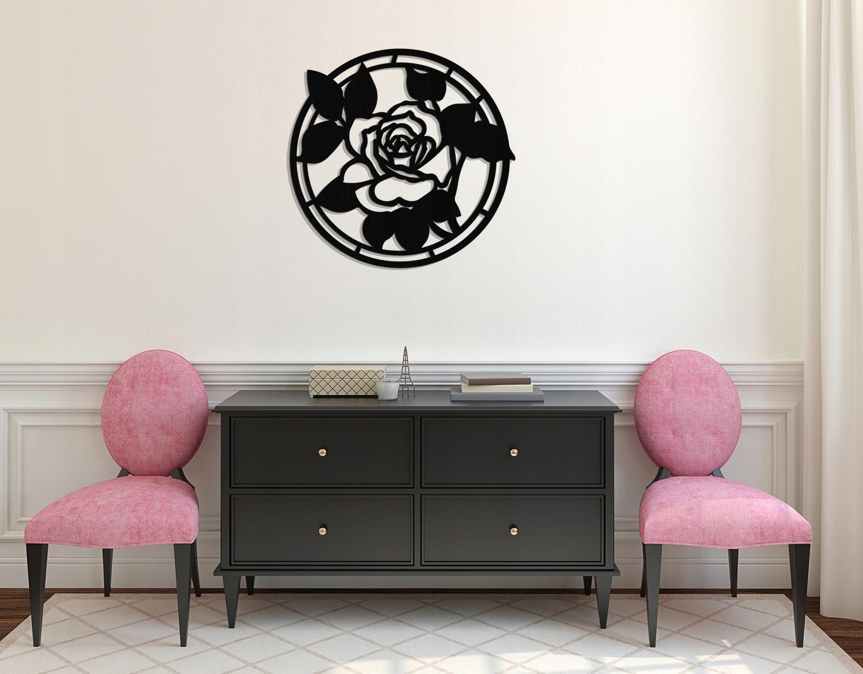 OPENWORK DEKORATÍVNY PANEL, 3D ROSE, ROČNÍK,60 cm