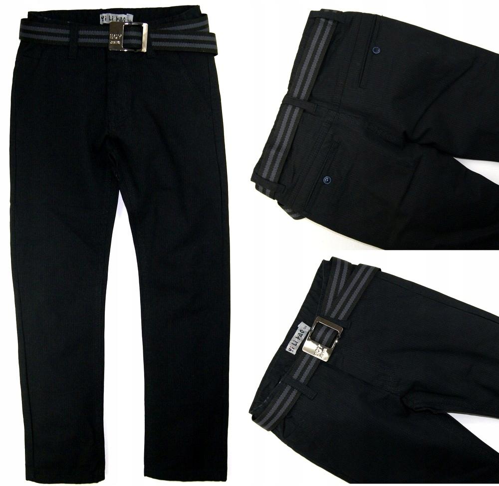 Nové čierne elegantné NOHAVICE Chino nohavice bar - 158