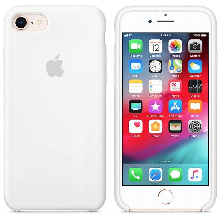 Etui silikonowe iPhone 8/ iPhone 7 (Biały)