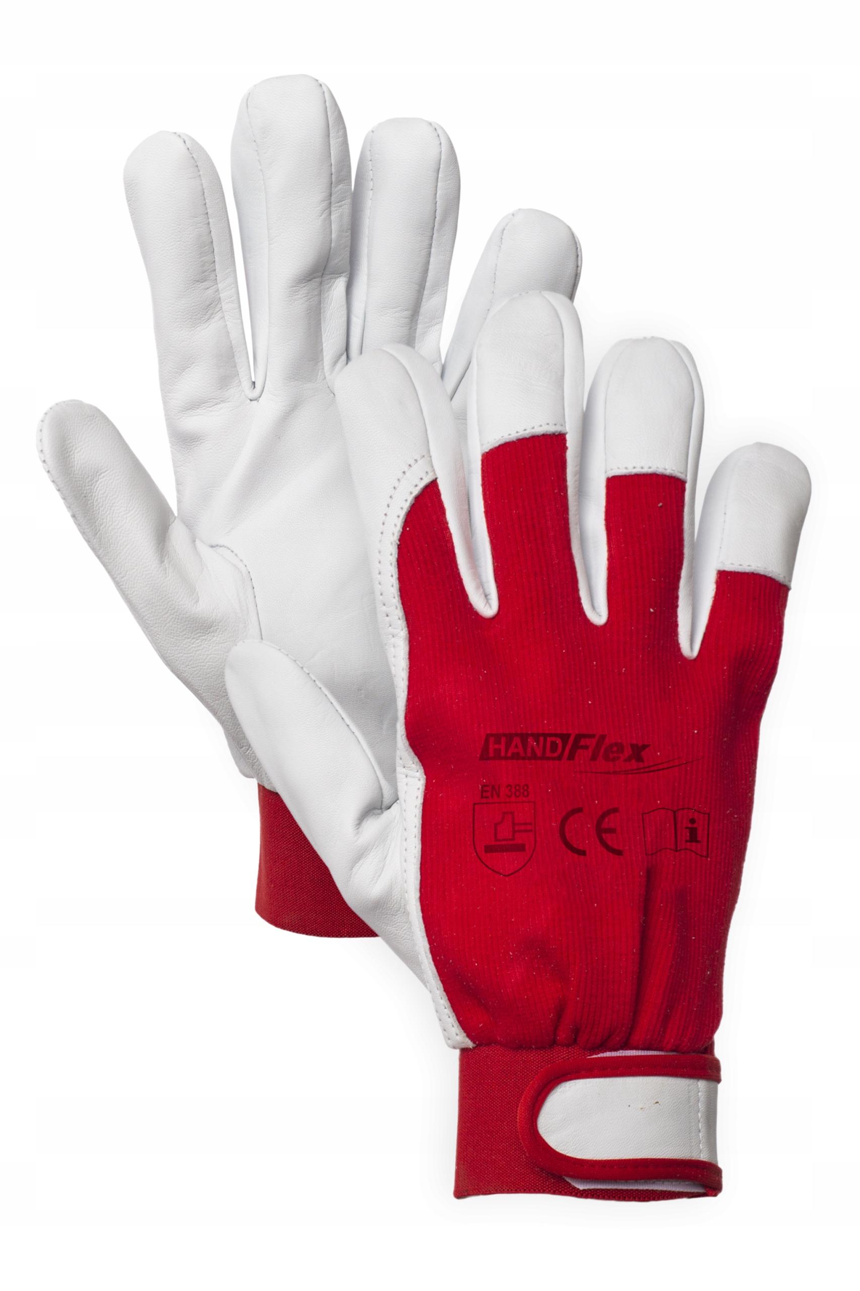 Rękawice robocze z koziej skóry HAND FLEX 4011 r10