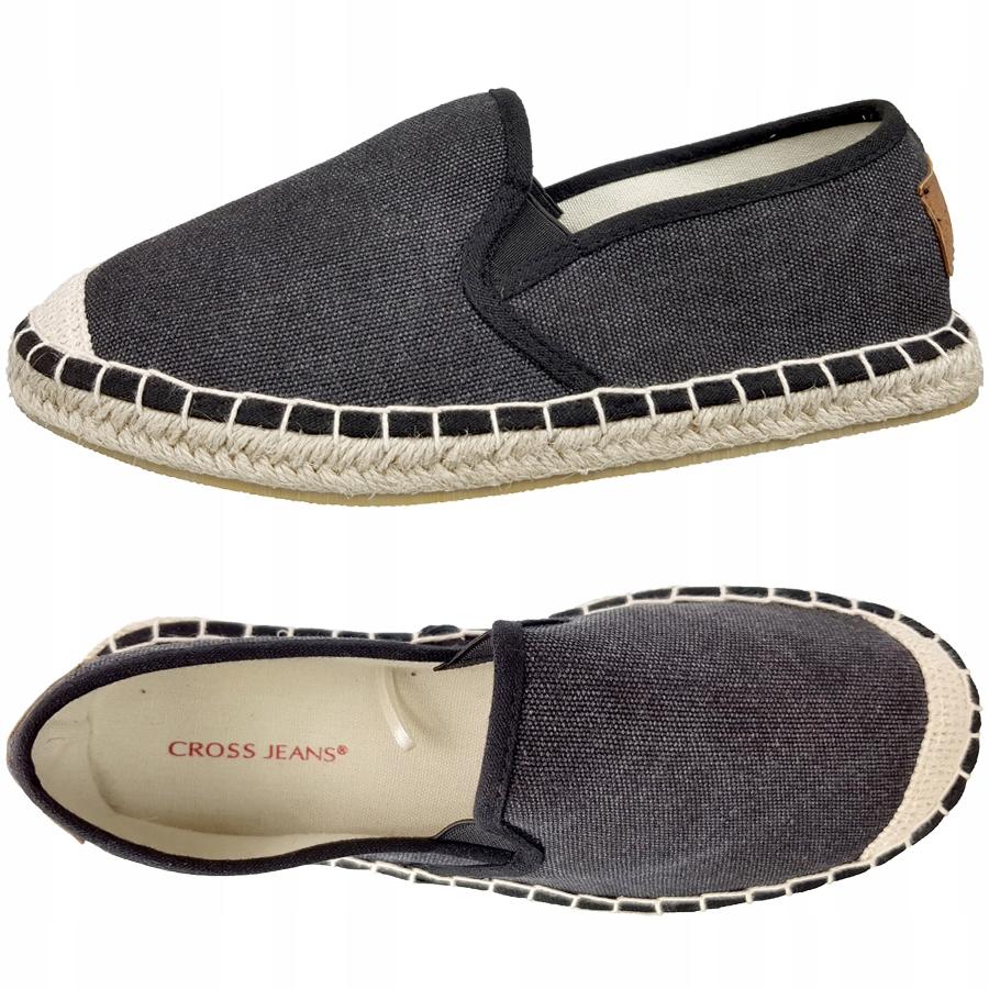 Espadryle Cross Jeans damskie czarne DD2R4106 38
