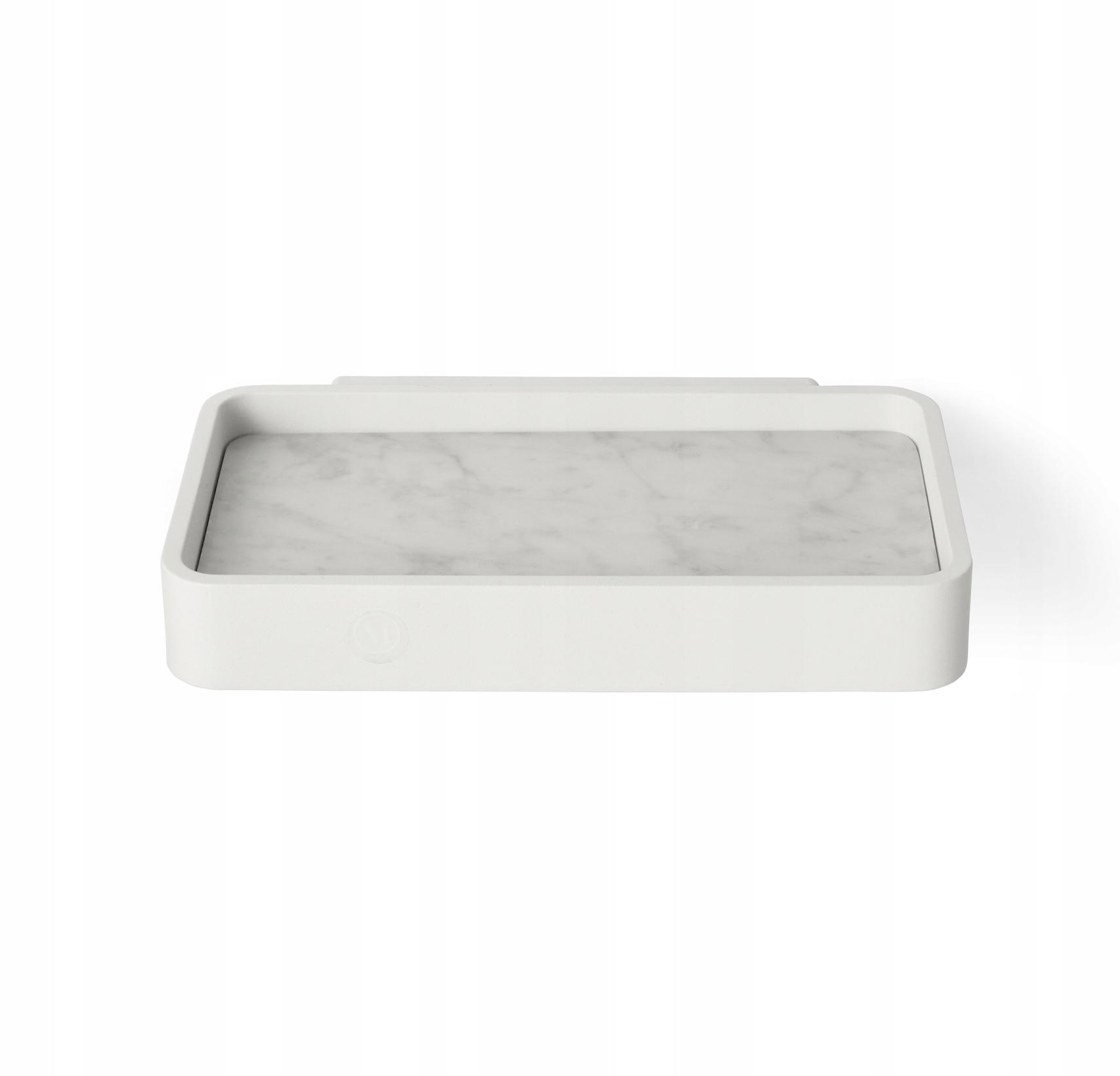 BATH Menu sprchová polička z bieleho mramoru