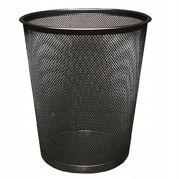 Item BASKET OFFICE METAL MESH BLACK LARGE 19l