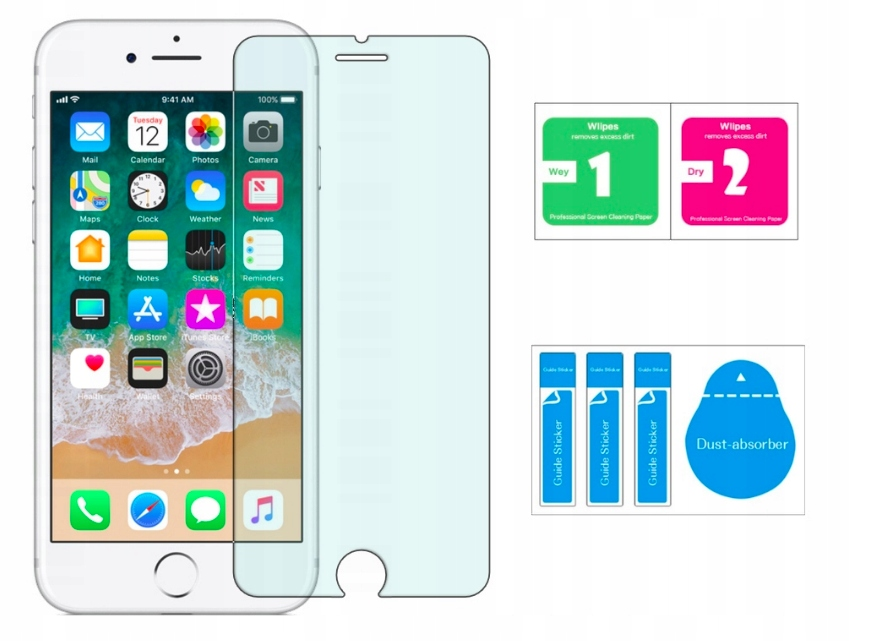 Szkło Hartowane Szybka H9 Apple iPhone 6 / 7 / 8