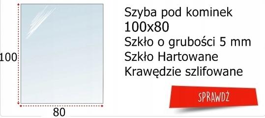 SZYBA HARTOWANA BLACHA PODSTAWA POD PIEC KOMINEK Kod produktu szyba pod kominek hartowana czarna 100x50