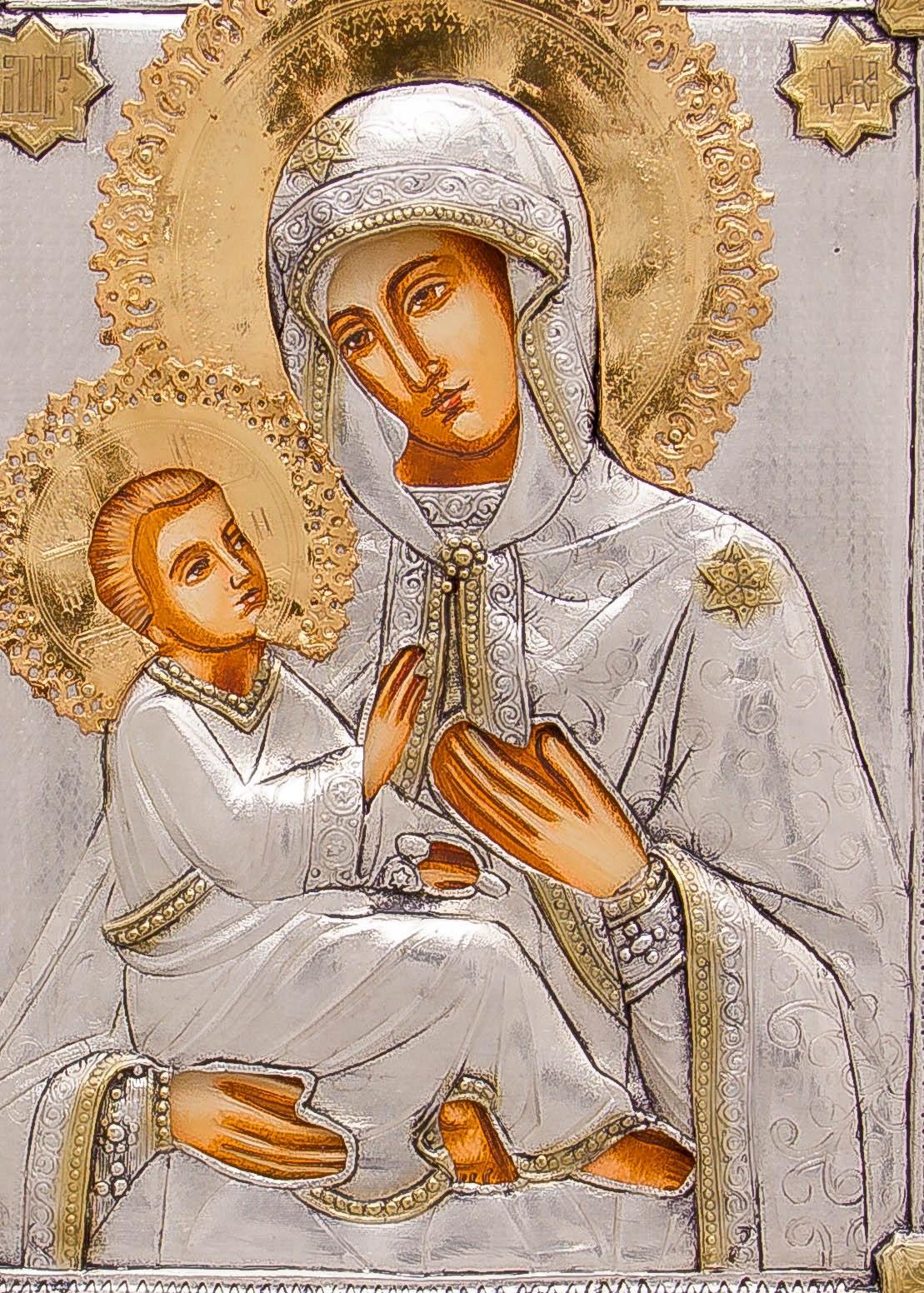 Ikona Matki Bożej Chełmskiej DEDYKACJA DUŻA nr 92 Rodzaj przedstawienia Matka Boża