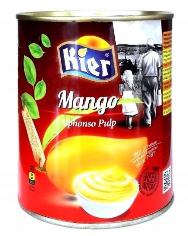 Alphonso mango Buničiny 95% Kesar Mango Červy 6x850g