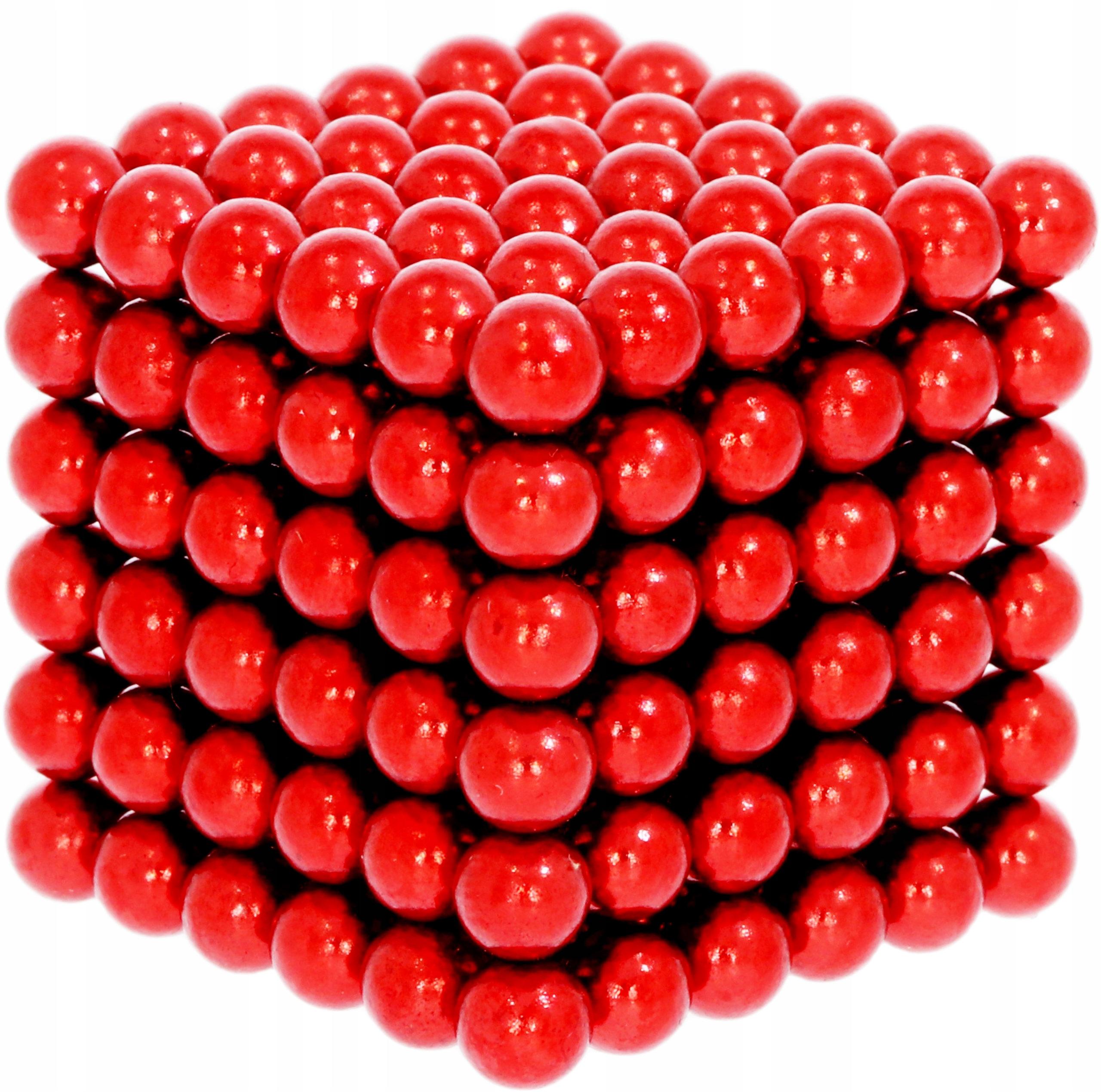 Magnetické guľôčky NeoCube 216 ks, 5 mm, červená!