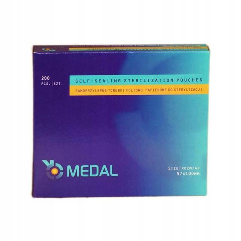 Пакеты для стерилизации МЕДАЛЬ 57x100
