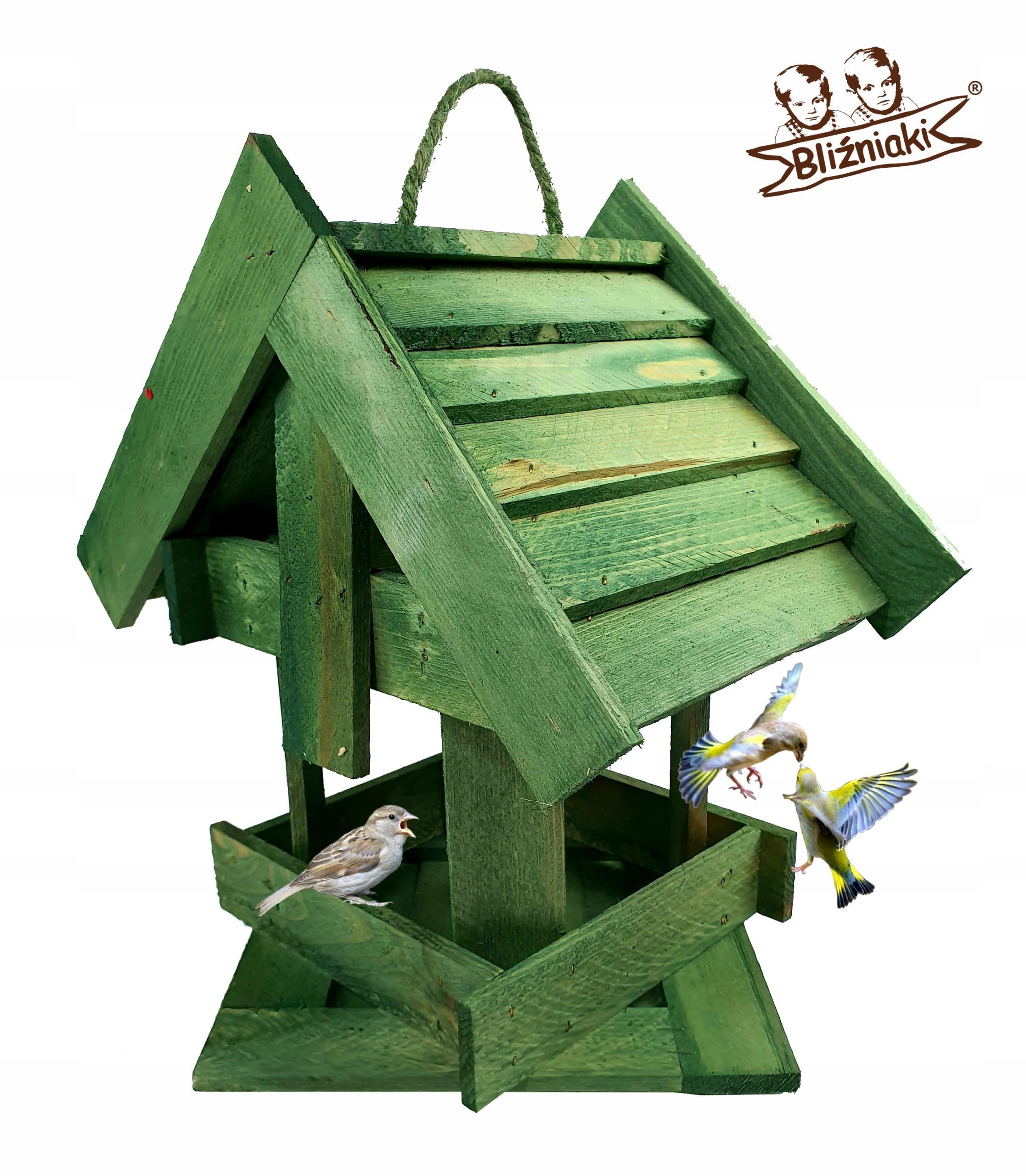 Vták feeder Drevený Dom Box Zásobník